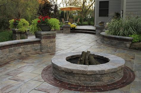 How To Build A Raised Paver Patio Unilock Fire Pit Patio Stoop Amp Stair Wall