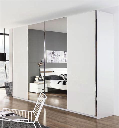 armoire 2 portes coulissantes denia blanc miroir