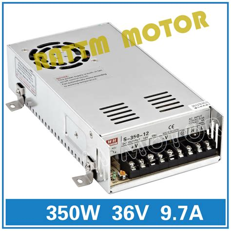 Dc 36v 400w Cnc Router Switching Power Supply Aw52 aliexpress buy 350w 36v switch power supply cnc router single output power supply 350w