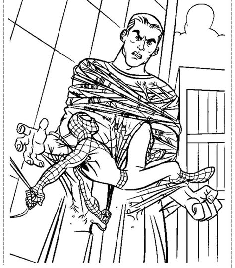 spiderman tie sandman coloring pages spiderman cartoon