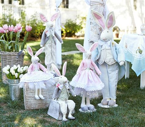 easter decorations for the home felted wool bunny d 233 cor pottery barn kids