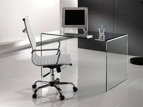 scrivania in vetro curvato bend