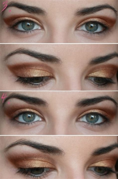 tutorial makeup natural for party party makeup gold copper eyes tutorial