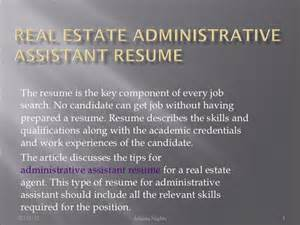 Real Estate Administrative Assistant Resume by Real Estate Administrative Assistant Resume 6