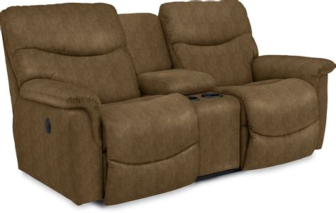 reclining loveseat w console james la z time 174 full reclining loveseat w console