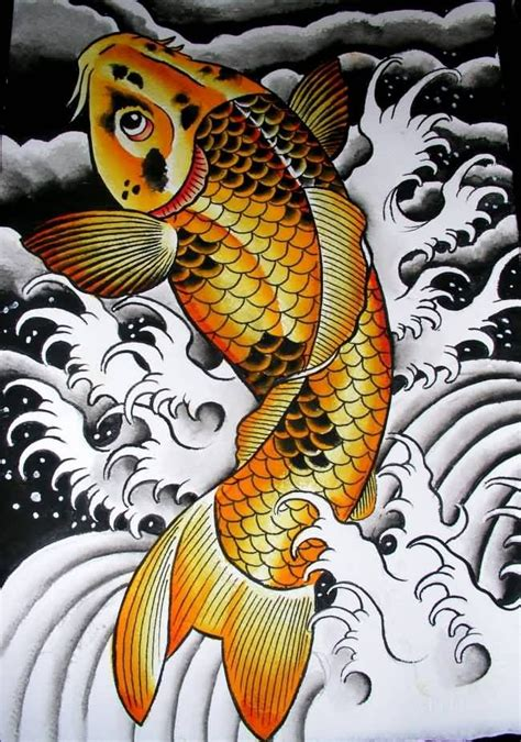 koi fish leg tattoo designs best golden koi fish design beautiful my style