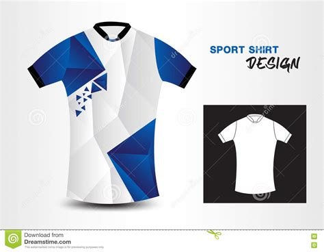 t shirt layout blue blue and white sport shirt design polygon vector