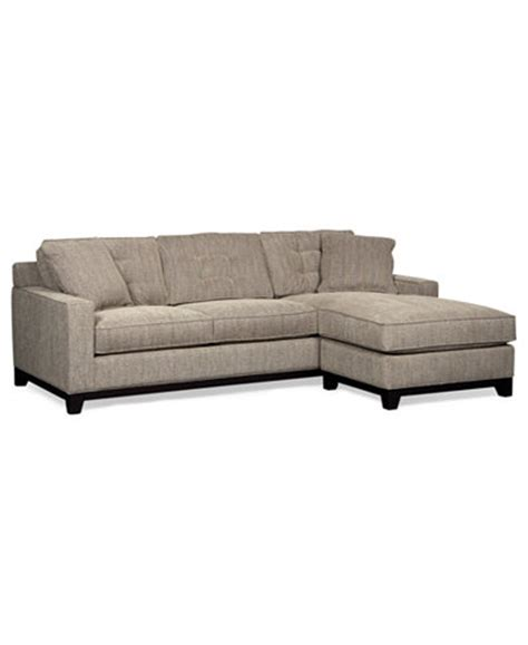 Macy Couches by Clarke Fabric 2 Sectional Sofa Only At Macy S