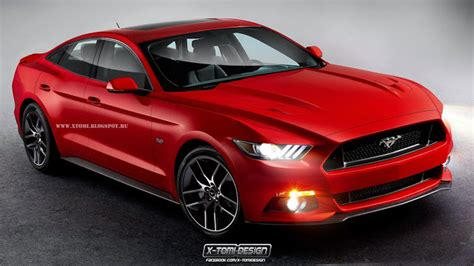 Four Door Mustang Price by 2015 Ford Mustang Becomes Four Door Sedan Autoevolution
