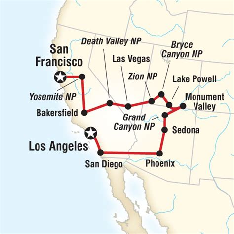grand los angeles map great wide everywhere tour gleaning some great