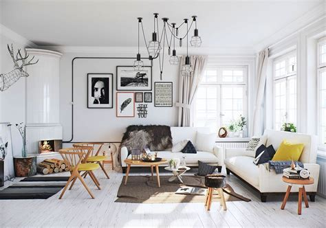 scandinavian decor 25 gorgeous yellow accent living rooms