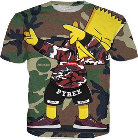 T Shirt Supreme Bart Simpsons Premium bart supreme pyrex colab