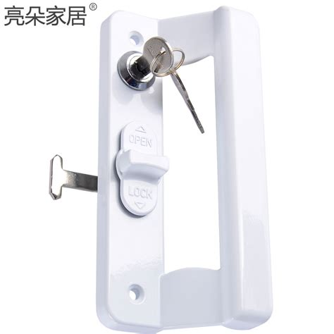 Key Lock For Sliding Glass Door Sliding Door Handle Lock Zinc Alloy Steel With Key For Aluminum Alloy Door Top Quality In Window