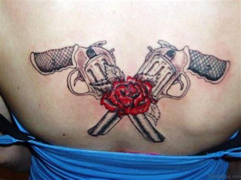 girl gun tattoo designs 64 ultra modern gun tattoos for back