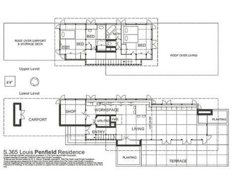 usonian floor plans floor plan the louis penfield house willoughby hills