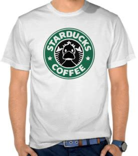 Kaos Starbuck Logo One Captain Luffy Mugiwara Kaos Anime jual kaos starducks coffee parodi logo starbucks parodi logo satubaju