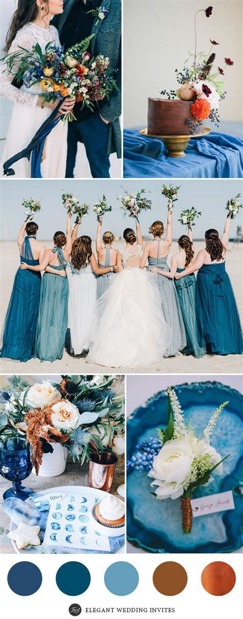 Perfect 7 Wedding Color Palettes 2017 With Metallic Copper