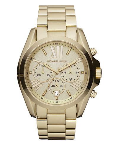 michael kors s chronograph bradshaw gold tone