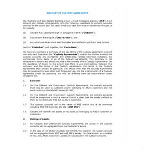 Child Custody Agreements Exles by 10 Custody Agreement Templates Free Sle Exle Format Free Premium Templates