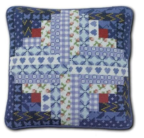 Patchwork Kits - one log cabin patchwork tapestry kit