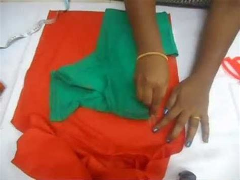 Cutting Of Saree Blouse Stitching by Blouse Cutting Step By Step Diy