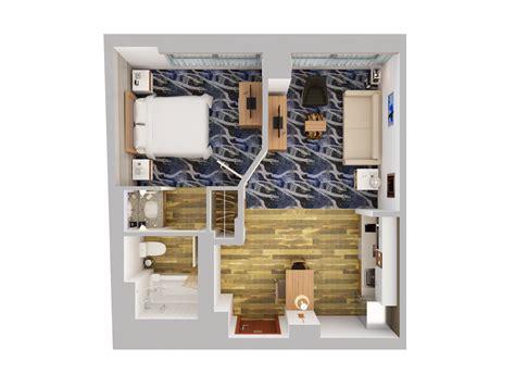1 floor motel suites 3d floor plans