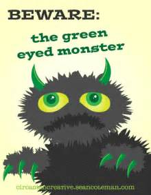 jealousy guide to overcoming the green of envy and jealousy books book cover design project 13 beware the green eyed
