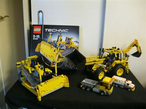 Lego Technic 42028 Bulldozer technic 42028 8069 bulldozer backhoe loader catawiki