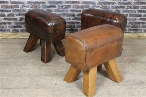 Stools In Horses by Antiques Atlas Vintage Gymnasium Bucks Leather Stool