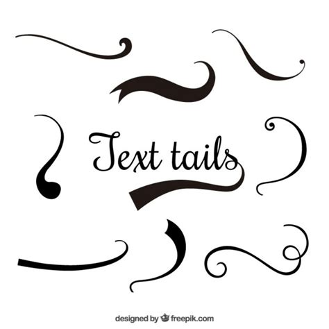 Wedding Font With Tails by Text Tails Vector Free