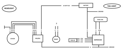 points ignition wiring diagram for xs650 points ignition