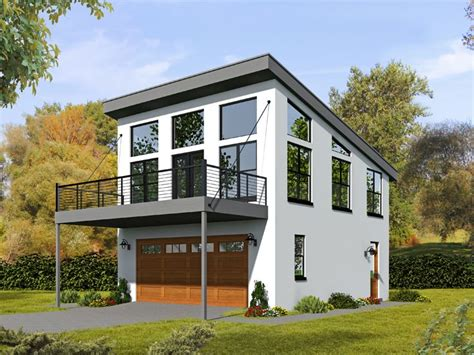 Apartment Garage Plans by 062g 0081 2 Car Garage Apartment Plan With Modern Style