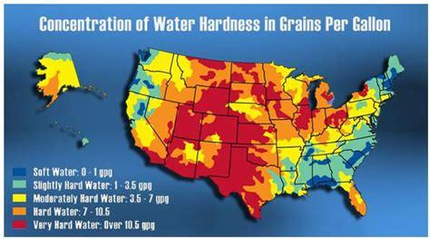 san jose water hardness map water hardness map usa my