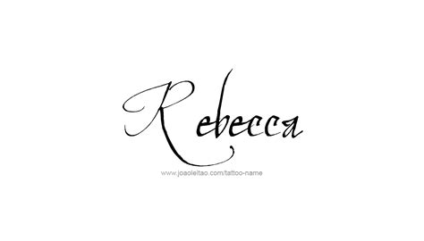 rebecca name tattoo designs