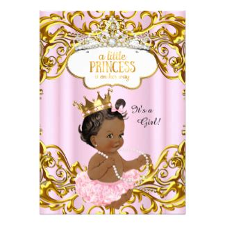 Baby Shower Hers by Princess Baby Shower Invitations Announcements