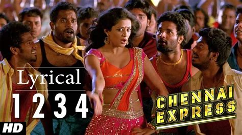 new year song express chennai express song with lyrics one two three four 1234