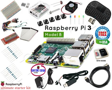 resistors for raspberry pi raspberry pi 3 ultimate starter kit wifi hdmi breadboard sd card class 10 ultra ebay
