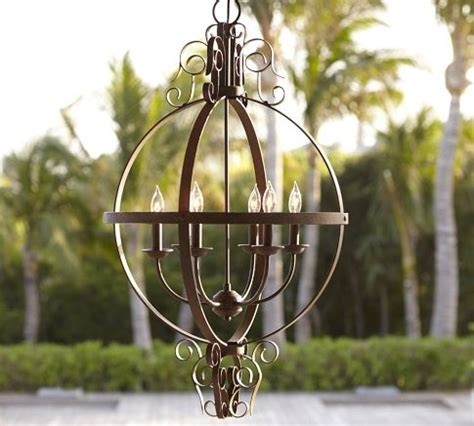 Pottery Barn Dumont Mirrored Chandelier