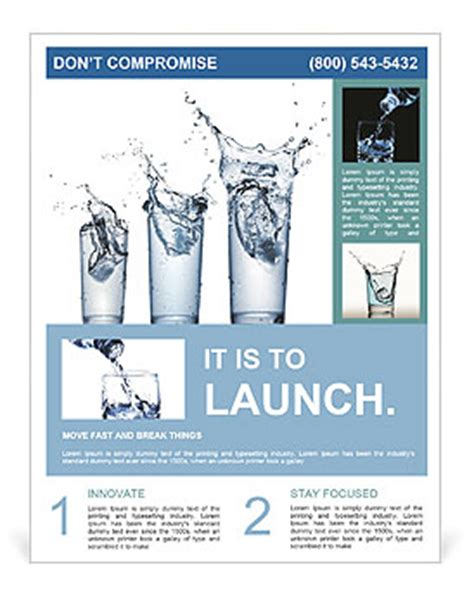 flyer design water glass of water flyer template design id 0000006511