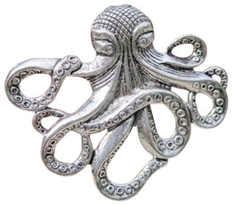 Eclectic Drawer Pulls by Octopus Drawer Cabinet Knob Silver Eclectic Cabinet