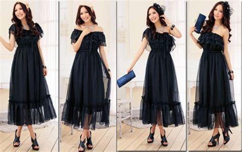 3lj226 Fashions Korea Dress Import Black Dress butik baju korea dress korea baju import baju