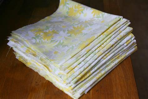 no sew napkins from vintage bed sheets farmish momma