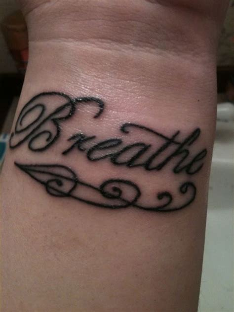 breathe tattoo designs best 25 just breathe ideas on
