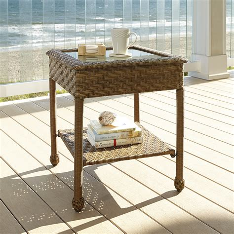 Patio Furniture Coral Springs Green Coral Springs Side Table Limited Availability Outdoor Living Patio Furniture