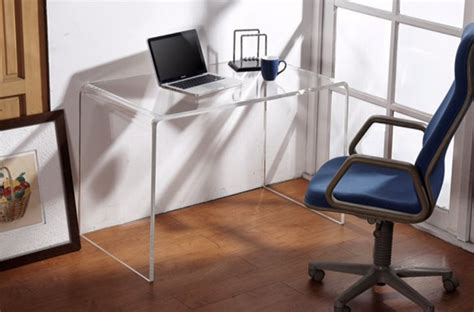 18 Sleek Acrylic Computer Desk Designs For Small Home Office Perspex Computer Desk