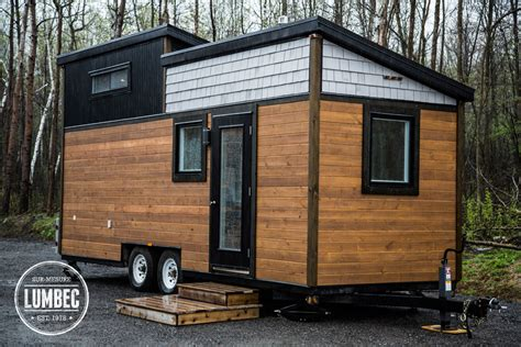 Floor Plans For Tiny Houses On Wheels by Tiny House Lumbec Le Projet 2015