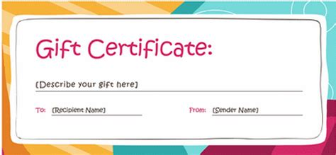 dinner gift certificate template admin gift templates