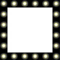showbiz make up mirror style frame clipart free