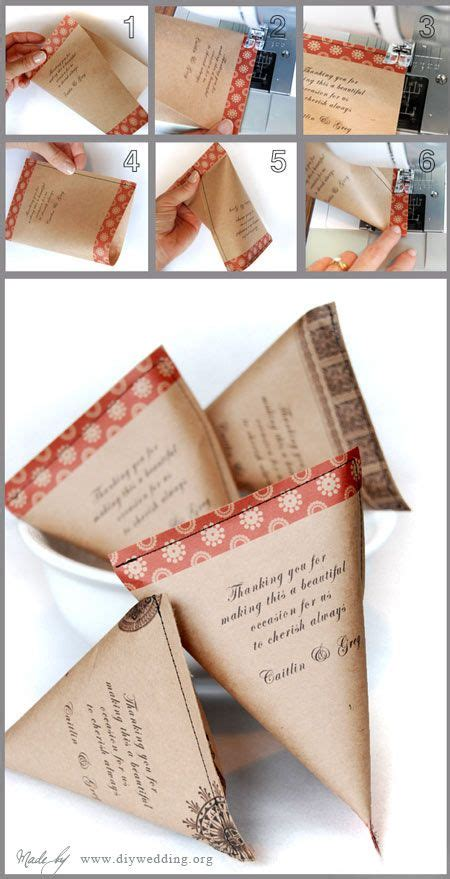 How To Make Wedding Giveaways - diy wedding favor bags easy to make wedding favors pinterest