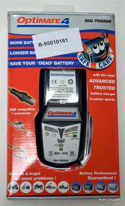 Motorrad Batterie Wird Nicht Geladen by Batterieladeger 228 T Optimate 4 F 252 R Bmw R1200gs Und Andere